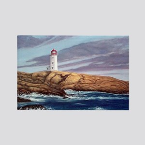 Peggys Cove Lighthouse  Rectangle Magnet