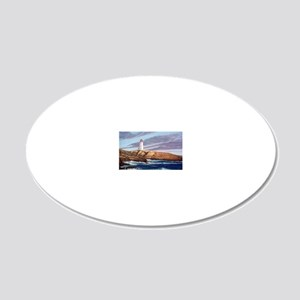 Peggys Cove Lighthouse  20x12 Oval Wall Decal