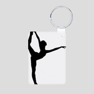 ballerina Aluminum Photo Keychain