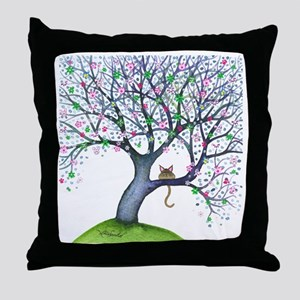 tree new york bigger Throw Pillow