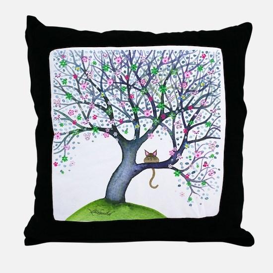 tree new york bigger Throw Pillow