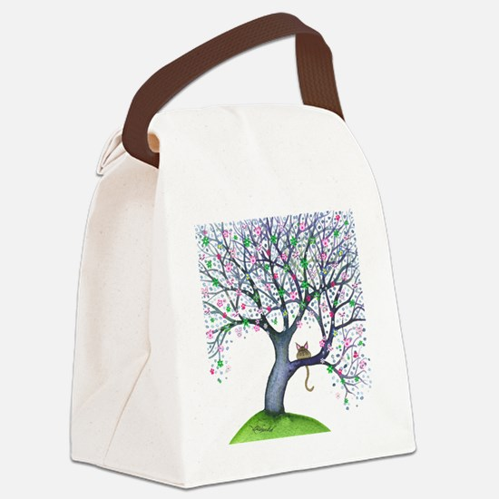 tree new york bigger Canvas Lunch Bag
