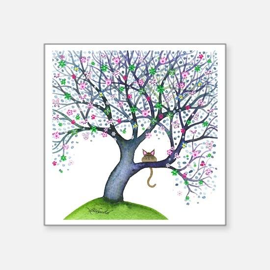 "tree new york bigger Square Sticker 3"" x 3"""