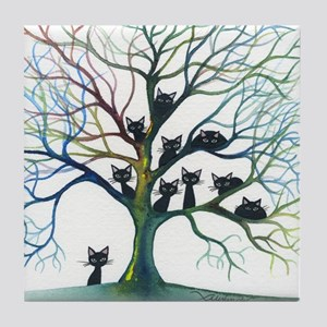 tree stray cats culpeper bigger Tile Coaster