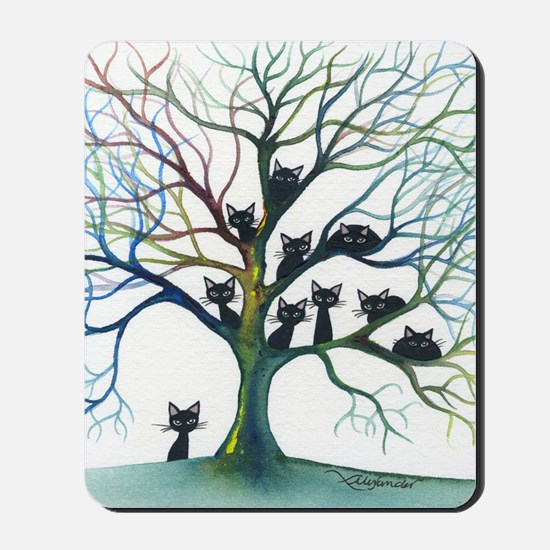 tree stray cats culpeper bigger Mousepad
