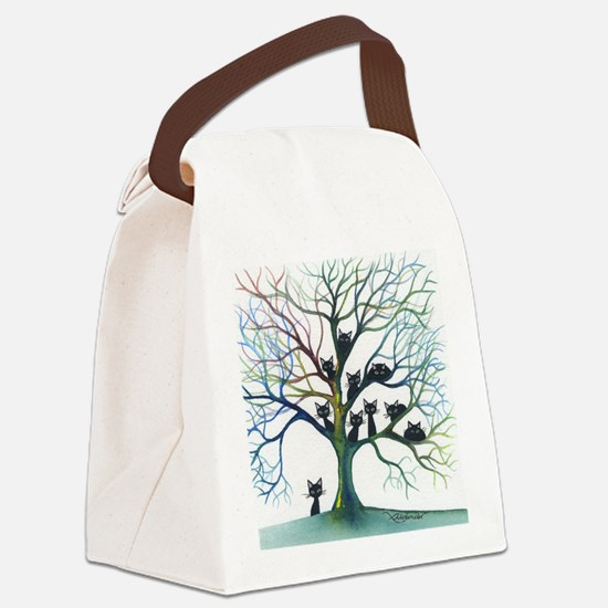tree stray cats culpeper bigger Canvas Lunch Bag