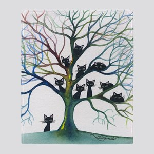tree stray cats culpeper bigger Throw Blanket