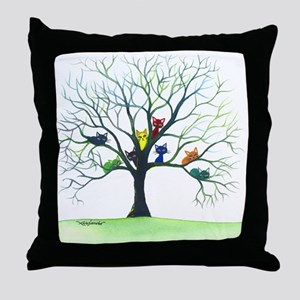 tree stray cats eau claire bigger Throw Pillow
