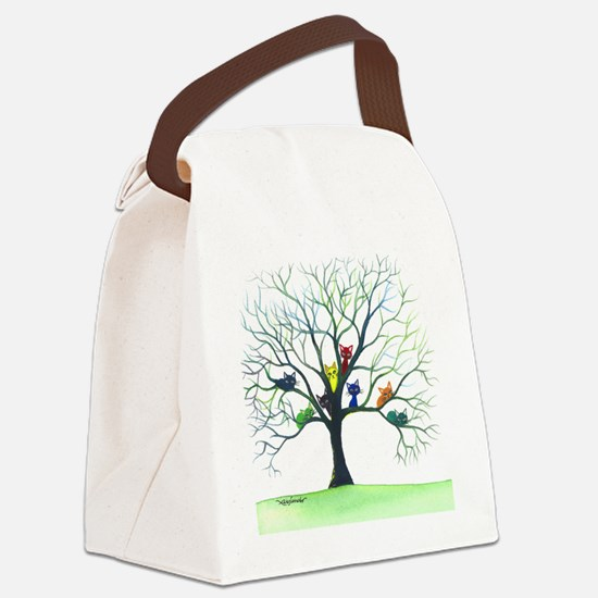 tree stray cats eau claire bigger Canvas Lunch Bag
