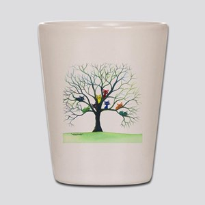 tree stray cats eau claire bigger Shot Glass