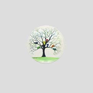 tree stray cats eau claire bigger Mini Button