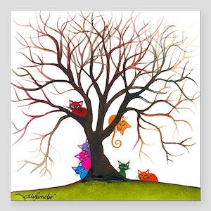 "tree inglewood bigger Square Car Magnet 3"" x 3"""