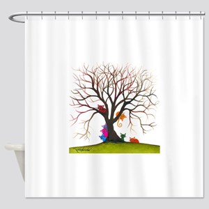 tree inglewood bigger Shower Curtain