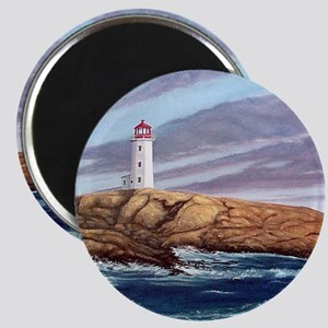 Peggys Cove Lighthouse tile coaster Magnet