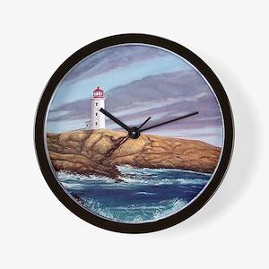 Peggys Cove Lighthouse clock Wall Clock