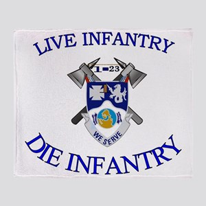 1st Bn 23rd Infantry cap4 Throw Blanket