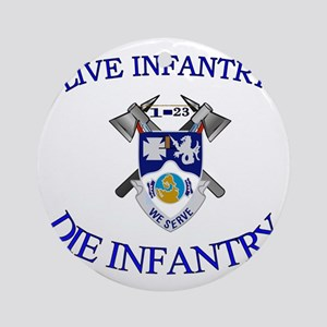 1st Bn 23rd Infantry cap4 Round Ornament