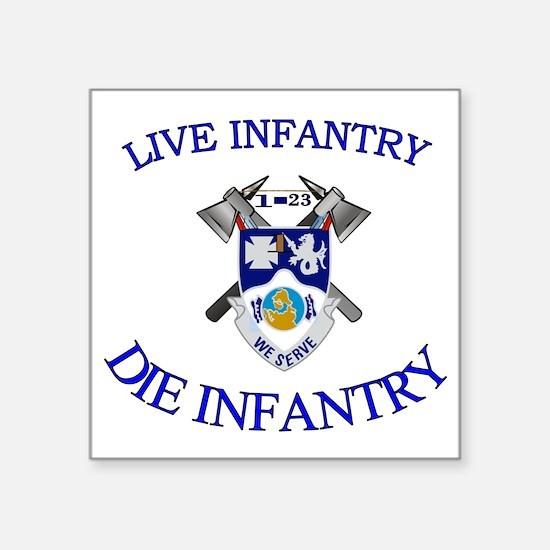 "1st Bn 23rd Infantry cap4 Square Sticker 3"" x 3"""