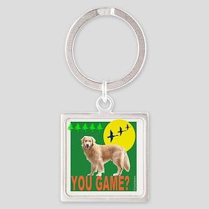 YouGameGreenMerge Square Keychain
