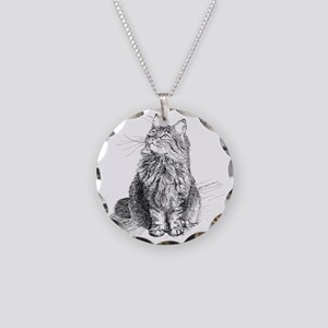 mitty-4in Necklace Circle Charm