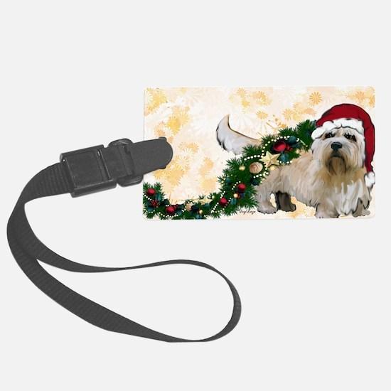 dandie dinmont Christmas Luggage Tag