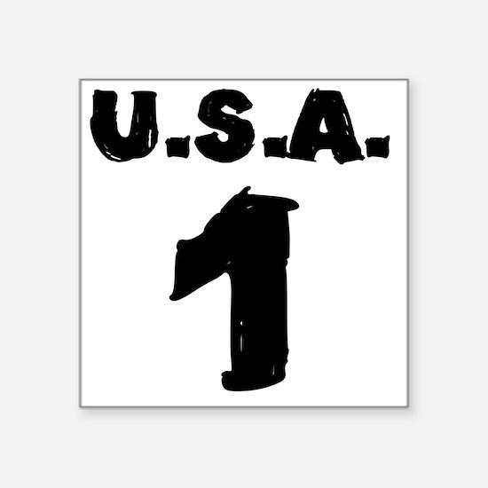 """ridin-solo-t-shirt back Square Sticker 3"""" x 3"""""""