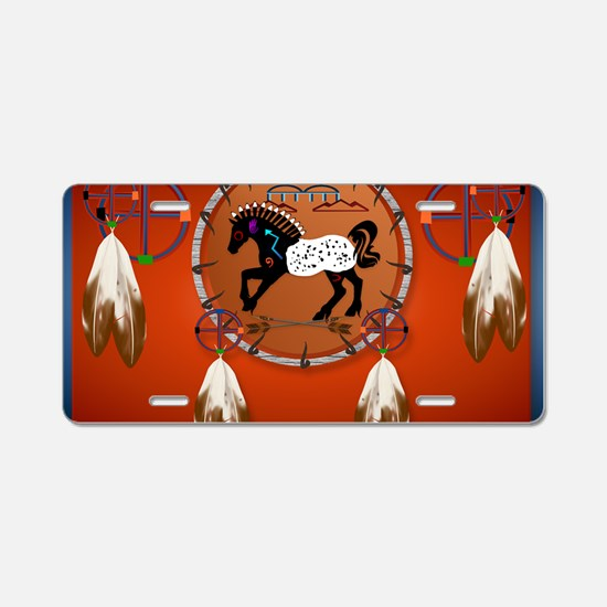 Yard SigN-Horse n Arrows Aluminum License Plate