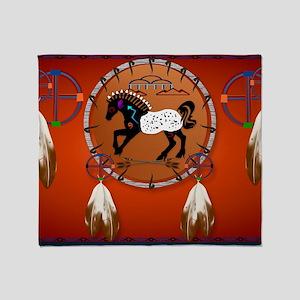 Yard SigN-Horse n Arrows Throw Blanket
