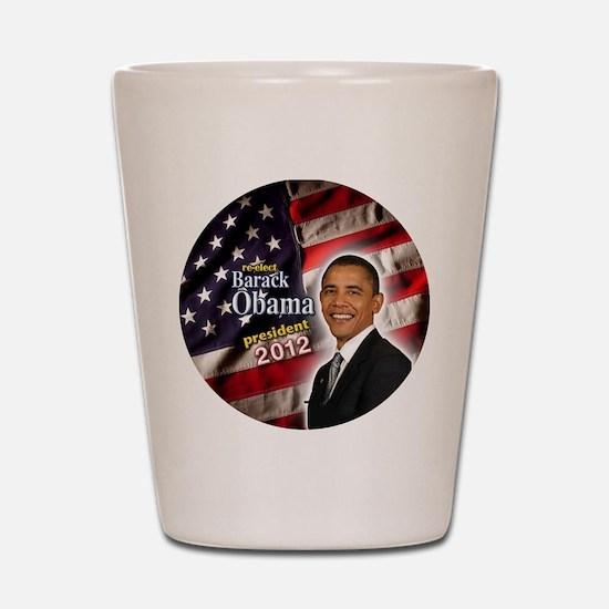 obama button 2012 Shot Glass