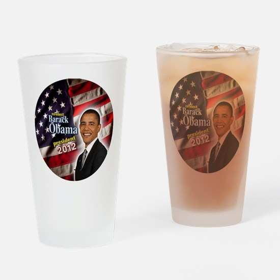 obama button 2012 Drinking Glass