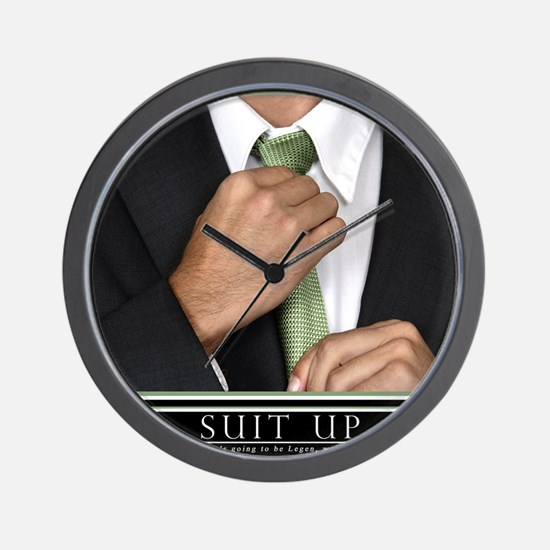 16x20_suitup_h Wall Clock