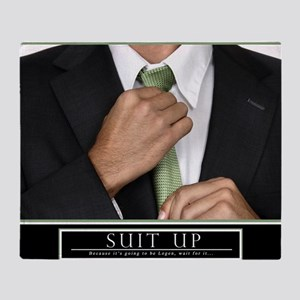 16x20_suitup_h Throw Blanket