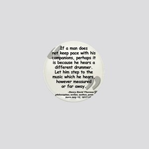 Thoreau Drummer Quote Mini Button