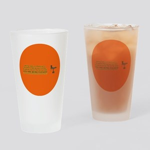 waiting tables button Drinking Glass