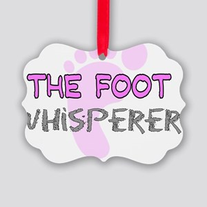The Foot Whisperer PINK Picture Ornament