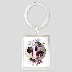 soccer usa women Portrait Keychain