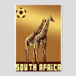South Africa Giraffes 5'X7'area Rug