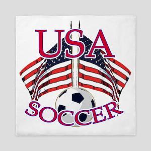 usa soccer Queen Duvet