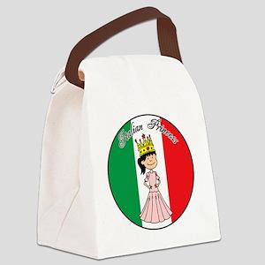 Italian Princess Shirt Canvas Lunch Bag