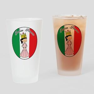 Italian Princess Shirt Drinking Glass