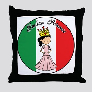 Italian Princess Shirt Throw Pillow