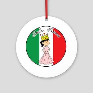 Italian Princess Shirt Round Ornament