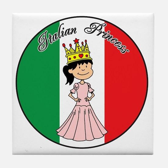 Italian Princess Shirt Tile Coaster