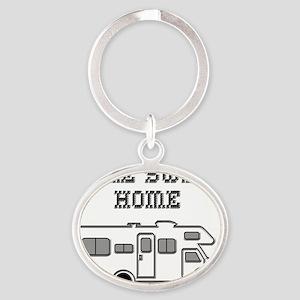 HomeSweetHomeClassC Oval Keychain