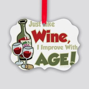 Wine-Improve-With-Age Picture Ornament