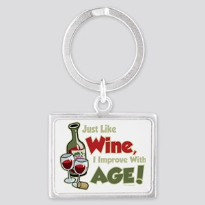 Wine-Improve-With-Age Landscape Keychain