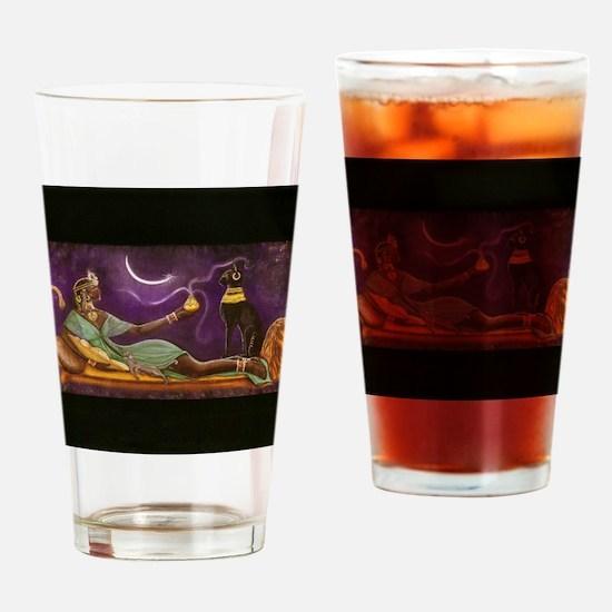 bast 001  horz 10 wide  horizontal Drinking Glass