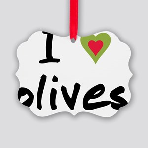 I love olives Picture Ornament