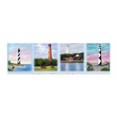 Lighthouses Outer Banks Wall Decal
