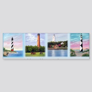 Lighthouses Outer Banks Sticker (Bumper)